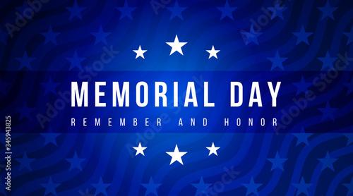 Fototapeta Memorial Day - Remember and Honor Poster