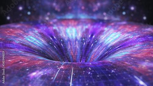 Cosmic distortion wormhole Wallpaper Mural