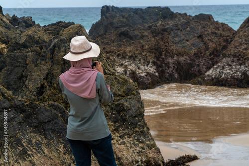 Valokuva Photographer feat beach