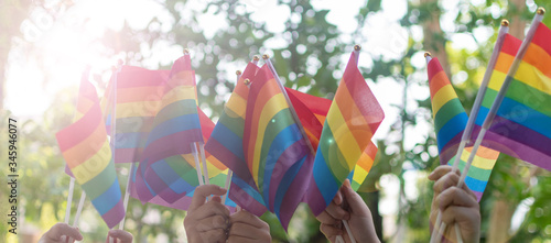 Cuadros en Lienzo LGBT, pride, rainbow flag as a symbol of lesbian, gay, bisexual, transgender, an