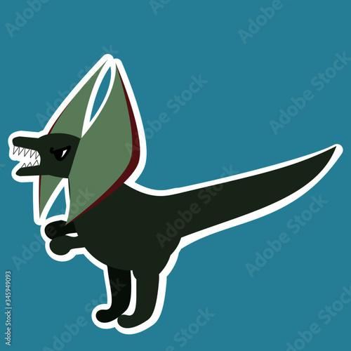 Photo Illustration of a genus of theropod dinosaur Dilophosaurus