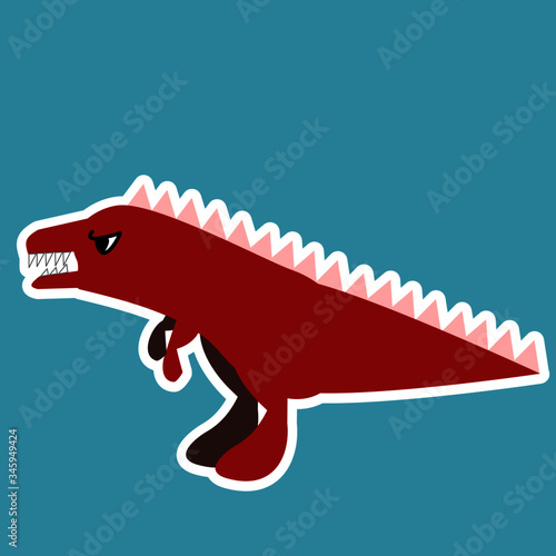 Photo Illustration of a Colorful dinosaurs image