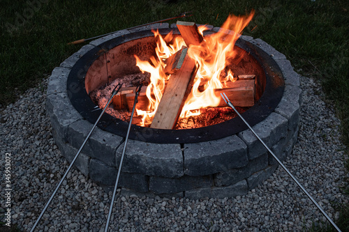 Leinwand Poster Fire Pit
