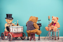 Teddy Bear Toys Music Band Tri...