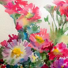 Abstract Bright Colored Decora...