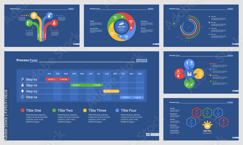 Infographic design set can be used for workflow layout, diagram, annual report, presentation, web design Canvas Print