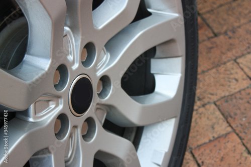 Luxury car alloy wheel Wallpaper Mural