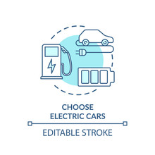 Choose Electric Cars Turquoise...