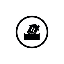 House In Flood Icon For Web An...