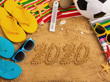 Summer Concept Of Sandy Beach,...