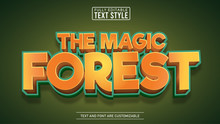 Magic Forest Game And Movie Title Editable Text Effect