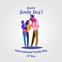 Happy Family Day Vector. Inter...