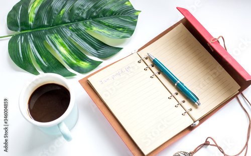 Obraz mental health practices list of I am grateful for things in notebook - fototapety do salonu