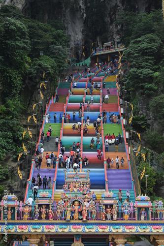 Photo coloured steps, batu caves, kuala lumpur