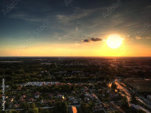 Fototapeta Zachód słońca Łódź  obraz