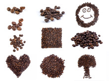 Coffee Beans In The Form Of A ...