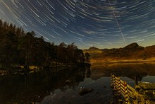 Star Trails Over Blea Tarn On ...