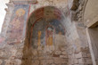 Colorful frescoes in the Church of St. Nicholas the Wonderworker. Ancient Byzantine Greek Church of Saint Nicholas located in the modern town of Demre, Antalya Province, Turkey