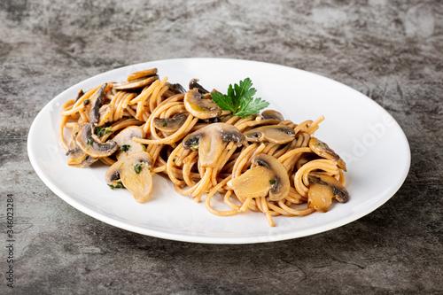 Fotografie, Obraz Pasta con i funghi