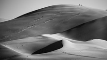 Black And White Sand Dunes In ...