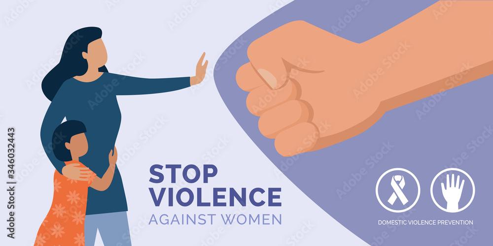 Fototapeta Stop violence against women awareness