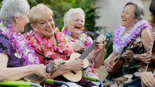 Senior Friends Singing Together