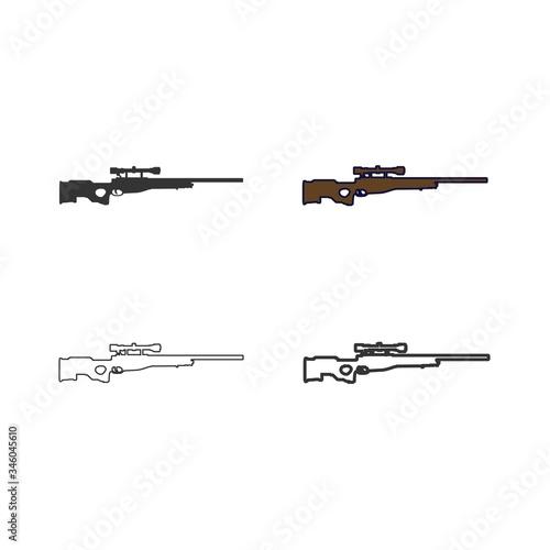 Cuadros en Lienzo sniper gun icon vector illustration design