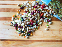 Variety Of Colorful Dry Beans ...