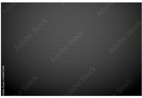 Black metallic abstract background, perforated steel mesh Wallpaper Mural