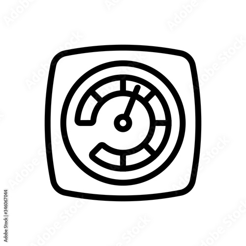 acceleration indicator icon vector Wallpaper Mural