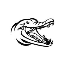Crocodile Head Logo Vector Mas...