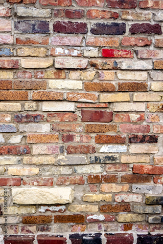 Old textured Brick Wall.
