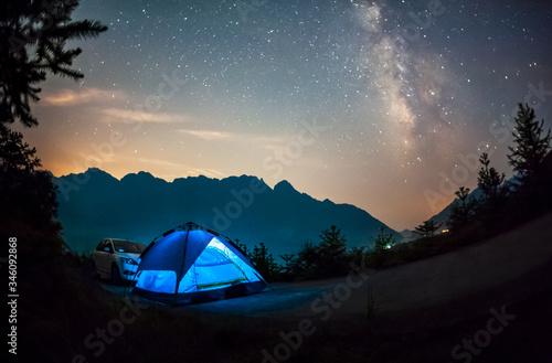 Fotografie, Obraz tent in the night