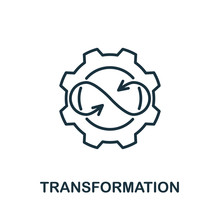Transformation Icon From Production Management Collection. Simple Line Transformation Icon For Templates, Web Design And Infographics