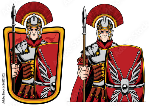 Fotografie, Obraz Roman Centurion Mascot