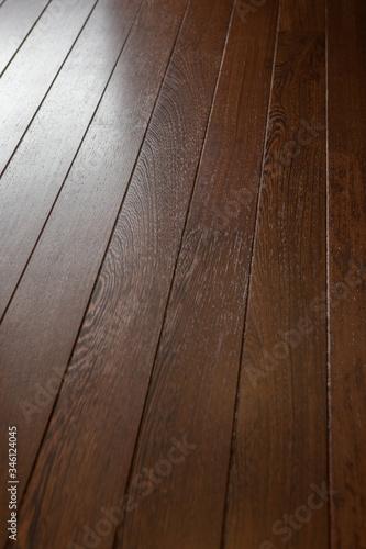 Fototapeta Floor shelves. Wood. Aboard a luxury Yacht. Interior. Yachting. Boat. Shipbuilding Industry.  obraz na płótnie