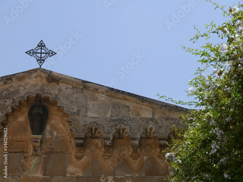 chapel of Condemnation and Flagellation, secon stationd of the cross where Jesus Canvas Print
