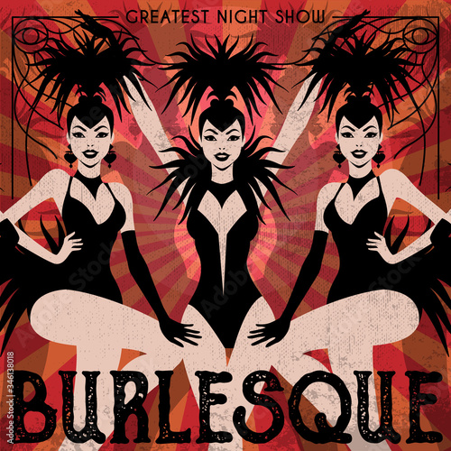 Canvas Burlesque show poster invitation
