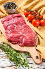 Fresh Outside Skirt Steak On A...