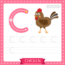 Letter C Uppercase Tracing Pra...