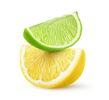 Isolated Citrus Fruit Slices. ...