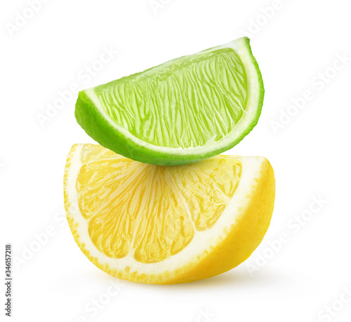 Isolated citrus fruit slices Fototapeta