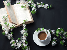 A White Cup Of Fragrant Espres...