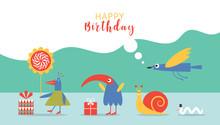 Happy Birthday Card Design,ban...