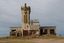 Abandoned Slaughterhouse In Epecuen , Near Carhue Provincia De Buenos Aires, Argentina