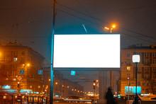 Billboard In The Night City Gl...