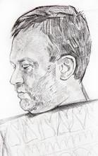 Pencil Drawing Illustration, Female Portrait, Handmade