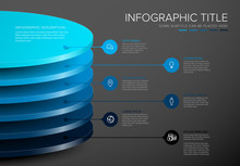 Vector Infographic Round Layers Desks Template