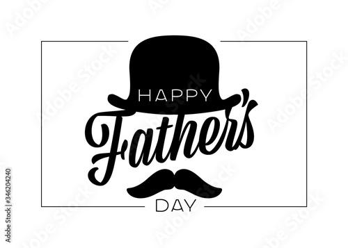 Fototapeta Happy Father's day card template obraz