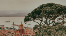 Old Town View From Citadelle In Saint Tropez France